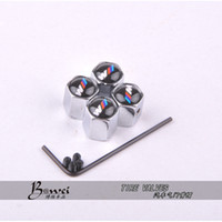 Wholesale Steel Car Air - Free Shipping Theftproof Stainless Steel 4PCS Car Wheel Tire Valves Tyre Stem Air Caps Airtight Cover For BMW modifications-m