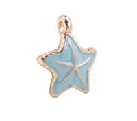 Wholesale Enamel Starfish - 10 PCS Fashion Fashion Mixed Colors Enamel Starfish Charms #92207-#92210