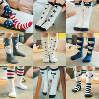 Wholesale Wholesale Knee High Animal Socks - Kids Knee High Stockings Baby Boy Girls Stockings 100% Cotton Children Socks Cartoon Animal Warm Cotton Autumn Socks