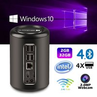 Windows Smart TV Box 2 Go 32 Go Windows 10 G2 Mini PC TV Box Intel Bay Trail CR Z3735F Quad-core 1.8GHz 2MP Camera Smart Media Player