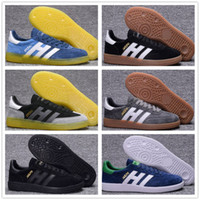 Wholesale top mens shoes for sale - Group buy Top Quality Mens Suede Handball Spezial Spzl Shoes Gazelle casual shoes White Human Black ULTRA BOOST Original OG Classic Shoes
