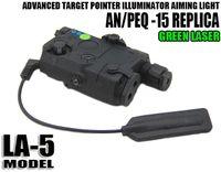 luz táctica láser al por mayor-Nuevo láser Tactical AN / PEQ-15 con láser de linterna LED iluminador de luz mejorado para cazar tierra negra / oscura