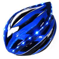Wholesale Night Ride Bike Light - new 2015 hot bicycle Bike helmet Ultralight MTB Helmet with light cycling mens road bike helmets night riding caschi bici