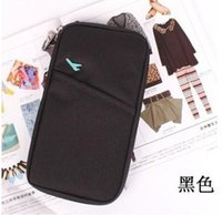 Wholesale Hot Journey - Wholesale-HOT fashion Travel Document Wallet Journey Fabric Passport ID Card Holder Case Cover Wallet Purse Organizer G0306
