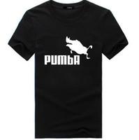 Wholesale funny tshirts men - PUMBA Printed Men Summer Tshirts HIP HOP Casual Tees Wild Pig Funny Design Short Sleeved O-neck Tops