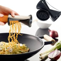 Wholesale Kitchen Julienne - 1PC New Shred Spiral Slicer Vegetable Cutter Julienne Grater Carrot Twister Gadgets Kitchen Tool Spaghetti Pasta Veggie Fruit Free Ship