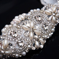 Wholesale Sashes For Bridal Dresses - Hot Selling Pretty Sashes For Wedding Crystal Rhinestone Beaded Belt Bridal Sashes Suitable For Evening Prom Dresses Bridal Accessories