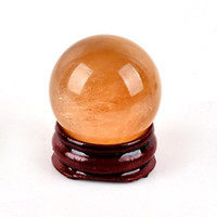 Wholesale Calcite Ball - Free Shipping Natural Stone Gemstone 30MM Calcite Sphere Crystal Ball Chakra Healing Reiki Stone Carving Crafts