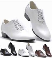 Wholesale unique men white wedding shoes resale online - NEW popular Men s wedding shoes Mens lace up leather shoes Unique men casual shoes