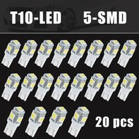 Wholesale 158 Led - Auto 20xT10 Side Wedge 5-SMD 5050 LED Light Bulb 2825 501 192 158 W5W 194 168 Super White CLT_0B9