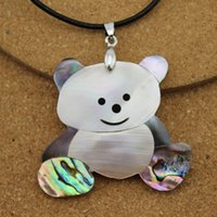 1PC Belle Abalone blanc Faune Shell Collier pendentifs bijoux bricolage Matériaux Charms Constatations F1506