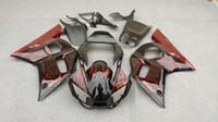 Wholesale 99 Yamaha R6 Fairings - Motorcycle Fairing kit for YAMAHA YZFR6 1998 2002 YZF R6 YZF600 98 99 00 01 02 Red flames black Fairings kit+7 gifts YM90
