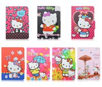 Wholesale Tab Cartoon Cover - Universal Adjustable Cartoon Hello Kitty Flip PU Leather Stand Case Cover For 7 inch Tablet MID Samsung Tab 2 3 4 P3200 T230 ACER ASUS
