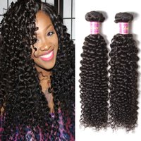 Wholesale Tight Curly Weaves - Indian Curly Virgin Hair 7A Jerry Kinky Curly Virgin Hair Brazilian Virgin Hair Tight Curly Weave 3 or 4 pieces Cheap Human Hair Bundles