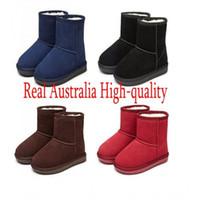 bota de navidad de calidad al por mayor-Venta caliente Nueva Real Australia de Alta calidad Niño Niños niñas niños bebé botas de nieve caliente Estudiantes Adolescentes Nieve Invierno botas de regalo de navidad