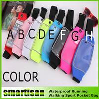 Wholesale Elastic Sports Waist Bag - Unuversal Waterproof iphone 6S 6 6plus inch Sport Waist Belt Pouch Bag Case Cover Elastic Waistband Pocket For iphone6 20pcs up