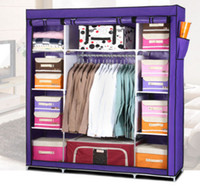 Wholesale Super Large Reinforced Portable Home Wardrobe Storage Hanger Closet Organizer Rack New