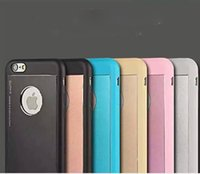 Wholesale Elago Cases - fashion elago blade hybrid TPU with aluminum dual color combo case cover for iPhone4 iPhone 5 iPhone 6 6S and Plus with packing