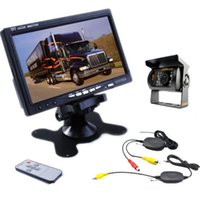 """Wholesale Wireless Tvs For Car - 12V Car Rear View Wireless Backup Camera Kit+ 7"""" TFT LCD Monitor For Truck   Van"""