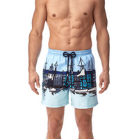Marca francesa de luxo 2018 Summer Style Men Shorts de praia Masculino Quick Dry Casual Shorts Homme Boardshorts Camo Trousers Plus