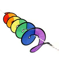 Wholesale spiral spinners for sale - Group buy SPMART Nylon Rainbow Spiral Wind Spinner Tent Garden Home Decorations