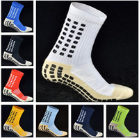 Wholesale Socks Slips - Top Quality AAA Anti Slip Keesox Soccer Socks 1:1 Trusox Mid-calf Cotton Football Socks Calcetin de futbol Meias Calcetines Football Socks