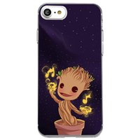 Wholesale silicone tree - Shaka Laka Starry sky Phone Clear shell Tree seedlings Case For iPhone 6 6S 5.0in 6plus  7 7plus 8 8s plus Soft TPU silicone back Cover