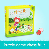 Wholesale Fruit Development - Baby Chessboard Toy Fruit Pattern for Intelligence Development Christmas Gift