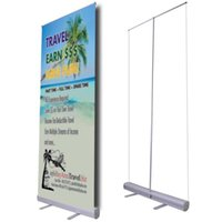 Wholesale Roll Up Displays - Economic Promotional Roll up Banner Stand Trade Show Retractable Roll up Banner Stand with Printing and Portable Carry Bag