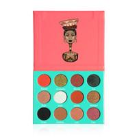 Wholesale Women Professional Wear - nubian High quality! Professional makeup 12 Color Fashion Women SAHARAN  Nubian Eye Shadow Palette Makeup Matte Eyeshadow Palette In Stock
