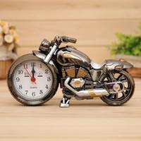 relógio de motocicletas venda por atacado-Moda Nova Motocicleta Despertador Forma Criativa Retro Presentes Mobiliário de Luxo Boutique Home Decorator