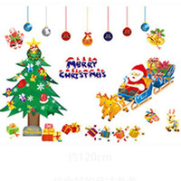 Wholesale Decor For Displays - New brand 2015 Christmas PVC Removable Display Window home Decor Wall Stickers For Christmas Decoration