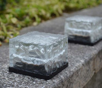 ingrosso pali solari del cortile solare-RGB Solar Lamp Colorful Led Cube di cristallo Luce da giardino Luci esterne Paesaggio luce Solare prato lampada Yard Stake Decorazione Illuminazione