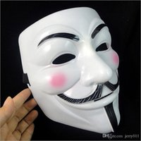 Wholesale Fancy Dress Accessories - V for Vendetta Mask Halloween party mask Anonymous Guy Fawkes Fancy Dress Adult Costume Accessory New