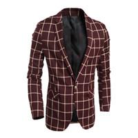 Wholesale Leisure Slim Plaid Suit - high quality Spring 2016 new classic plaid leisure suits men Slim 4301