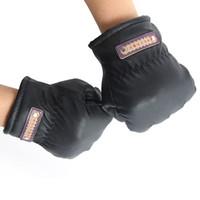 Wholesale Suede Gloves Wholesale - Wholesale-New Arrival Men PU leather Glove Large Cotton Suede Gloves Fine fleece Ski  driving Mitten