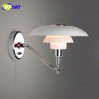 Wholesale Chrome Bathroom Light Fixtures - FUMAT Wall Lamps Chrome Wall Sconces Modern Wall Lamp Bedroom Bedside Light Bathroom Lamp Fixtures Mirror Light Nordic