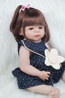 poupée bébé fille achat en gros de-55cm Full Body silicone Réincarné fille Baby Doll Jouets 22inch Nouveau-né Princesse tout-petits bébés Poupées Bathe Jouet Maison Toy Doll Accessoires