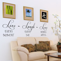Wholesale Live Laugh Love Wall - live laugh love Quote Wall Stickers Inspirational Vinyl Quote Decal