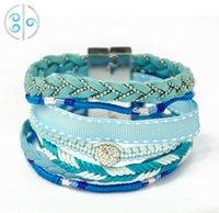 Wholesale Brazilian Style Hipanema - Manual Brazilian Style Hipanema Bracelet Pure Fit Magnetic Lock Lovely Beads Charms Bracelet Valentine Day Gift -J320