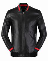 Wholesale Pu Leather Motorcycle Jacket - Hot - fashion Slim tide young motorcycle baseball uniform PU jacket short section spring and autumn leather jacket Medusa - China Size