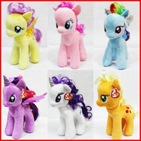 "Wholesale Little Girls Cartoons - 7.8"" My Little Pony Plush toys 6 designs U pick for Baby Girl Cartoon Super Quality plush Dolls Stuffed Toys Plush Animals"