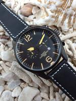 Wholesale Vintage Mens Belt Black - luxury Limited Edition sport mans quartz chronograph movement sapphire glass high qality black leather Belt 01-92 vintage mens Watches