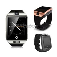 Wholesale red cell watch phone online – Q18 Smart Watch With Camera Sim TF Card Slot Bluetooth NFC HD Arc Screen Wristband Smartwatch For IOS Android Cell phone Retail Box