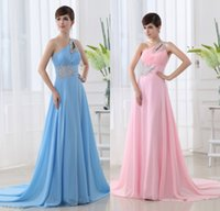 Wholesale Sparkle Prom Dress Stock - In Stock Pink Long Chiffon Prom Dresses for Cheap 2015 Sparkling Beaded One Shoulder Empire Lace up Charming Backless Evening Gown Under 100