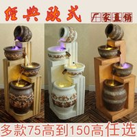 Wholesale Large floor fountain flowing water features furnishings European garden ornaments Lucky Feng Shui rockery round ornaments