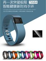 montre bracelet tw64 smart achat en gros de-Nouveau IP67 intelligent Bandeaux TW64 tracker activité bluetooth fitness smartband bracelet bracelet pulsera Montre non Fitbit peu en forme flex