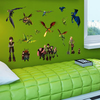 Wholesale Country Gifts Home Decor - 2015 Cartoon How to Train Your Dragon 2 wall stickers Removable waterproof Nursery Loving Gift Home Decor Art