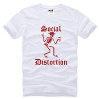 Wholesale Men S Express - SOCIAL DISTORTION funny punk t shirt mens cotton casual skull black t-shirt alibaba-express t shirt D15