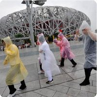 Wholesale Disposable Ponchos - One-time Raincoat Fashion Hot Disposable PE Raincoats Poncho Rainwear Travel Rain Coat Rain Wear Travel Rain Coat DDA1249-A